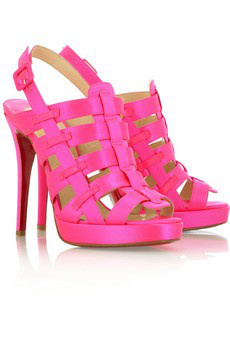 Christian Louboutin Pink Satin Sandals
